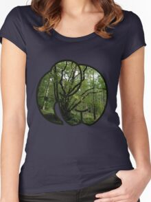 Elephant Trees Women's Fitted Scoop T-Shirt