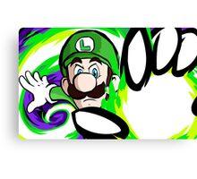 Luigi | Fireball Canvas Print
