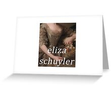 ELIZA SCHUYLER - HAMILTON MUSICAL CLASSIC DESIGN Greeting Card