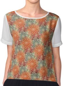 Orange Blossoms Chiffon Top