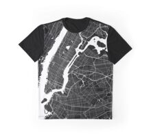New York - Minimalist City Map Graphic T-Shirt
