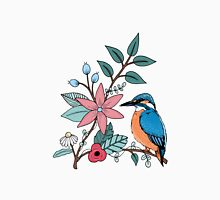 Kingfisher and Flowers Unisex T-Shirt