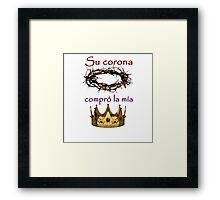 Su Corona compro la mia Framed Print