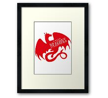 Cause Dragons Red Framed Print