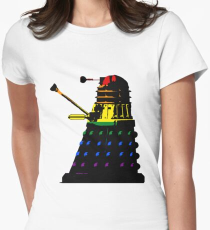 Dalek Pride Womens Fitted T-Shirt