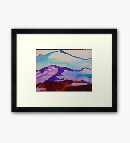 Two-toned Mountainscape Framed Print