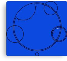 "Circular Gallifreyan ""Allons-y"" graphic top Canvas Print"