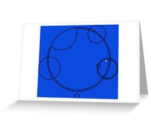 "Circular Gallifreyan ""Allons-y"" graphic top Greeting Card"