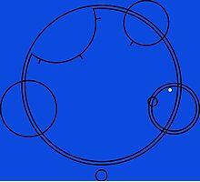 "Circular Gallifreyan ""Allons-y"" graphic top Photographic Print"