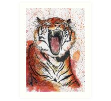 Scribble Ink Tiger Art Print
