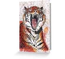 Scribble Ink Tiger Greeting Card