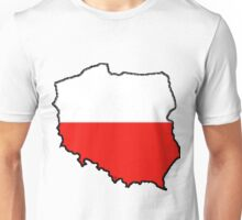 Poland Map With Polish Flag Unisex T-Shirt