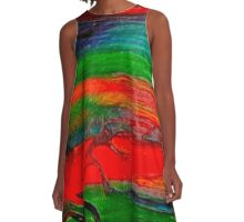 Tree of Light A-Line Dress