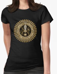 Steampunk Vintage Clock Face in Sepia Womens Fitted T-Shirt
