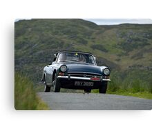 The Three Castles Welsh Trial 2014 - Sunbeam Alpine Canvas Print