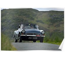 The Three Castles Welsh Trial 2014 - Sunbeam Alpine Poster