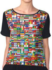 Flags of the World Chiffon Top