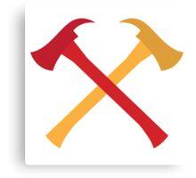Fireman axes crossed Canvas Print