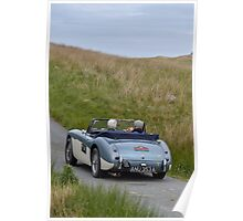 The Three Castles Welsh Trial 2014 - Healey MK 11A Poster