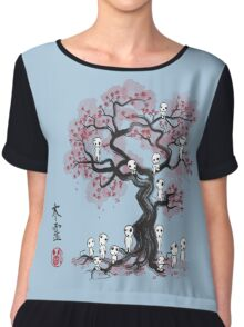 Forest Spirits Sumi-e Chiffon Top