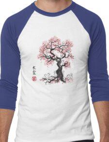 Forest Spirits Sumi-e Men's Baseball ¾ T-Shirt