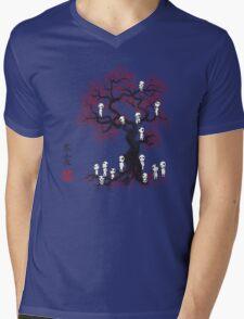 Forest Spirits Sumi-e Mens V-Neck T-Shirt
