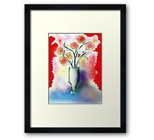Vase With Flowers by Roger Pickar, Goofy America Framed Print