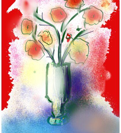 Vase With Flowers by Roger Pickar, Goofy America Sticker