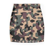 Woodland Camouflage Mini Skirt