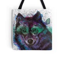 Scribble Ink Wolf Tote Bag