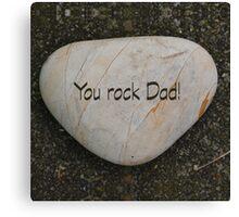 Heart shaped rock & text Canvas Print