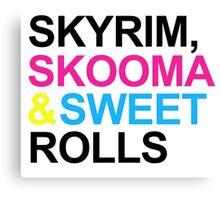 Skyrim, Skooma & Sweetrolls Canvas Print