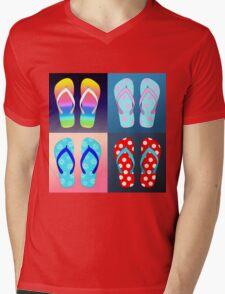 Flip Flop Pop Art  Mens V-Neck T-Shirt