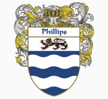 Phillips Coat of Arms / Phillips Family Crest One Piece - Short Sleeve