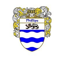 Phillips Coat of Arms / Phillips Family Crest Photographic Print