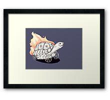 Tortoise on a Mission Framed Print