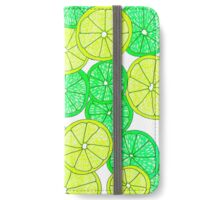 Lemon and Lime Pattern iPhone Wallet/Case/Skin