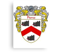 Pierce Coat of Arms / Pierce Family Crest Canvas Print