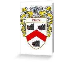 Pierce Coat of Arms / Pierce Family Crest Greeting Card