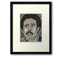 an American stand-up comedian, social critic, and actor Framed Print