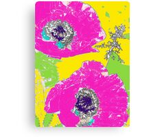 Punch of Pink Poppies II Canvas Print