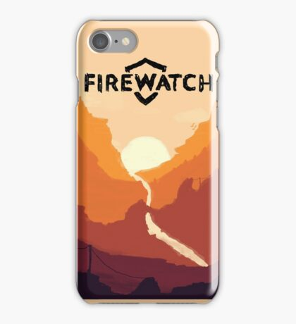 Firewatch horizion with logo iPhone Case/Skin