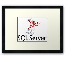sql server database programming language Framed Print