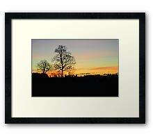 Sunrise With Trees Framed Print