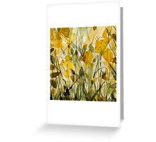 yellow fields Greeting Card