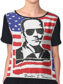 Hunter S Thompson. Drugs, alcohol, violence and insanity Chiffon Top