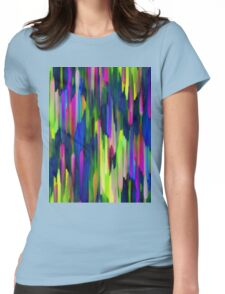 Colorful digital art splashing Womens Fitted T-Shirt
