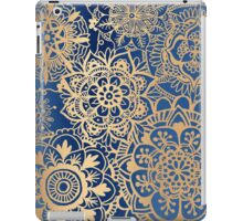 Blue and Gold Mandala Pattern iPad Case/Skin