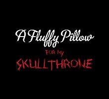 Fluffy skullthrone by moombax
