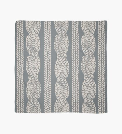 Cable Row Grey Scarf